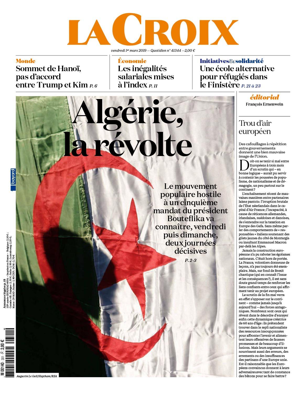 Font Page La Croix.  March 01, 2019