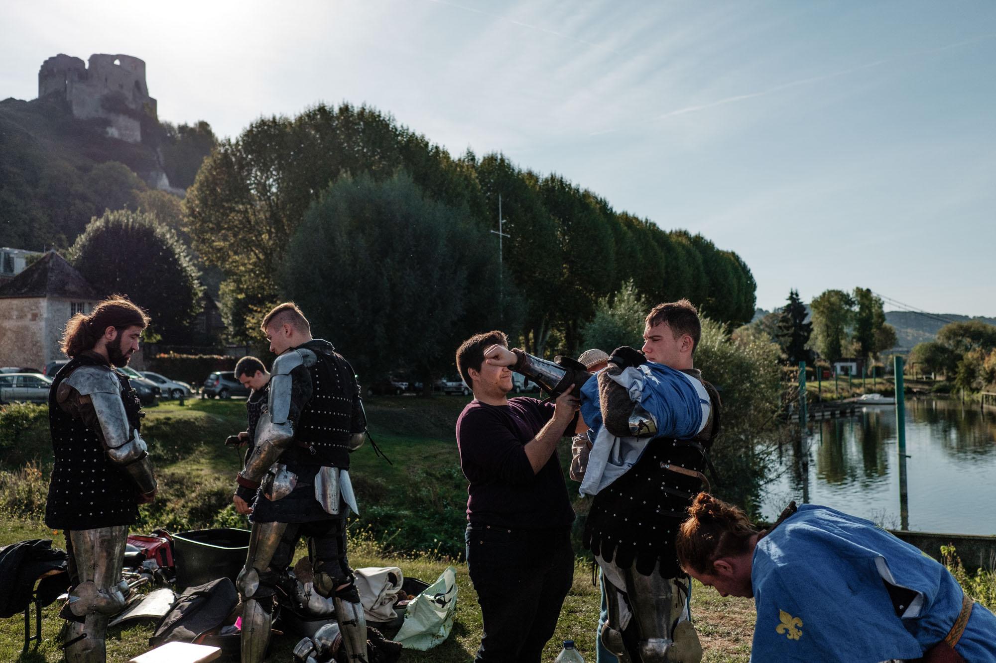 Tournoi de Behourd en equipe ( 5 contre 5) dans le village des Andelys (Eure), avant dernier tournois pour le championnat de France de l'annee.