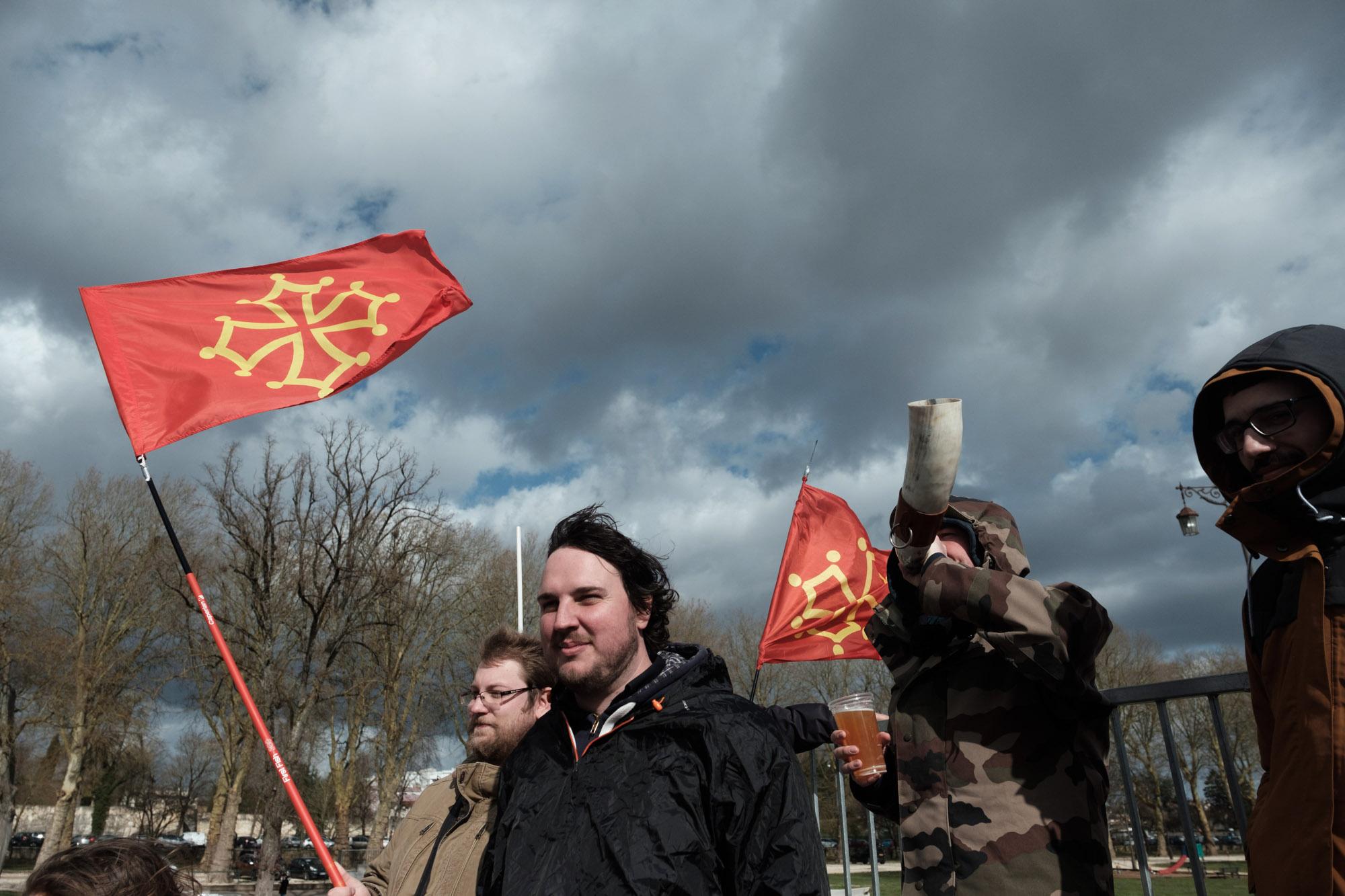 Des fans de la région Occitanie sont venus soutenir l'équipe Carcas Sonne.