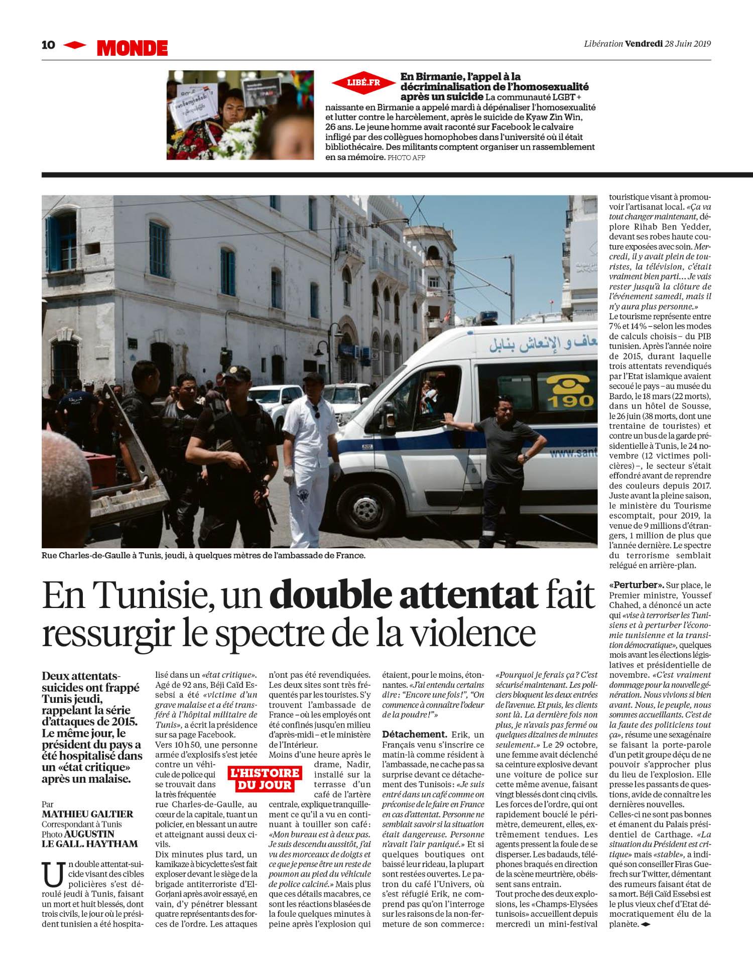 Libération. 28 Juin 2019
