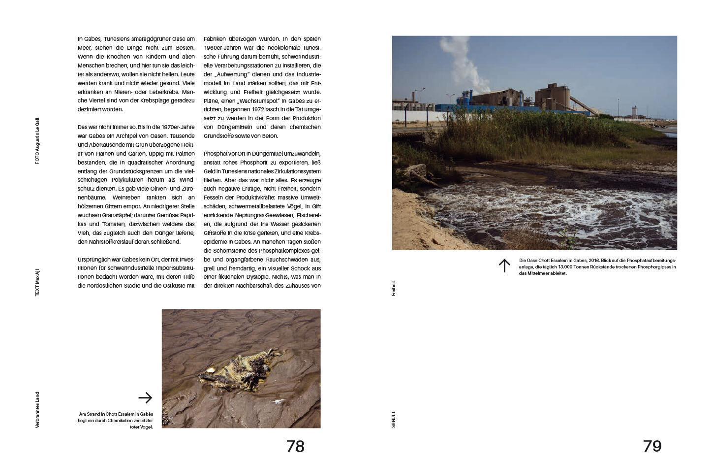 "A part of the series ""Scorched Land"" published in the  39Null Magazine.  07/2019. Focusing on the aftermaths of the phosphate industry in the oasis of Gabes (Tunisia)."