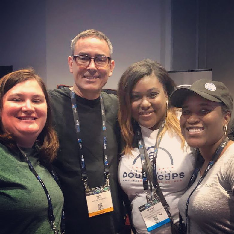 2018 NAB Show PDAp recipients with editor alan bell, ace (Hunger Games: catching fire and mockingjay, 500 days of summer)