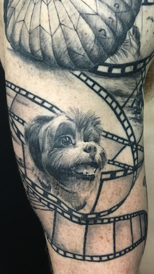 Yoni's rescue dog inspired tattoo.