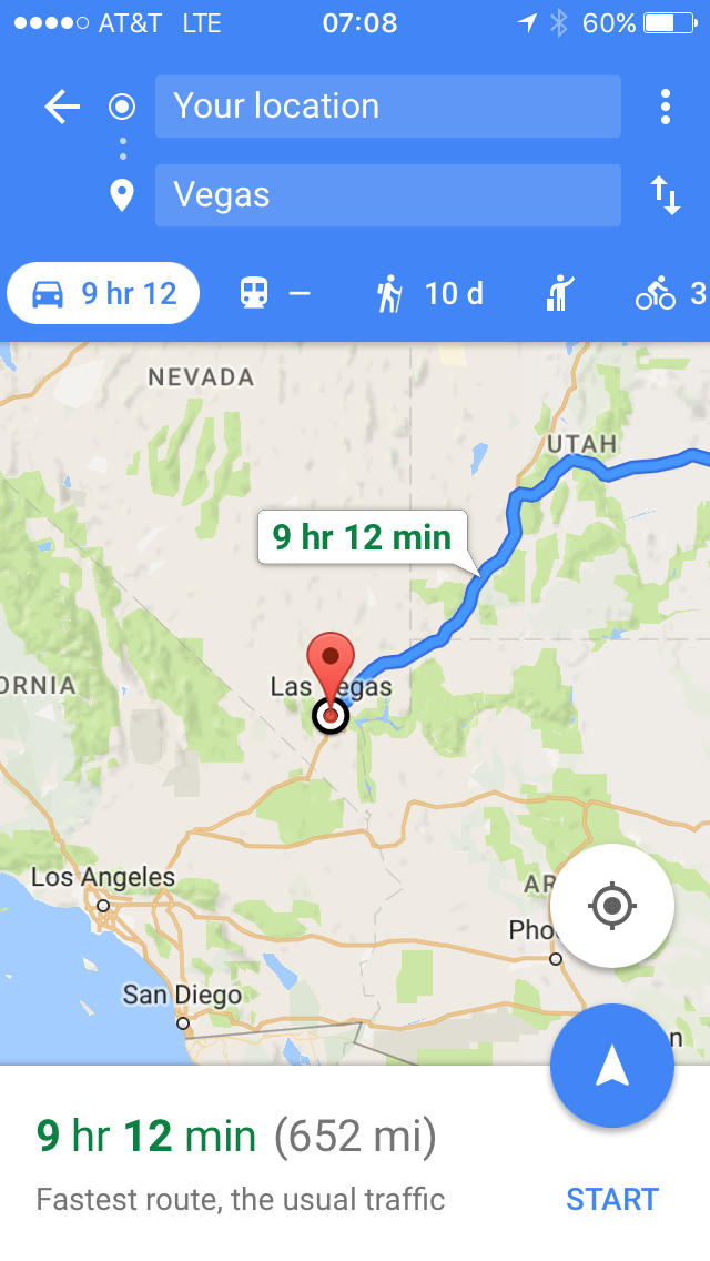 How Yoni basically planned out his trip.