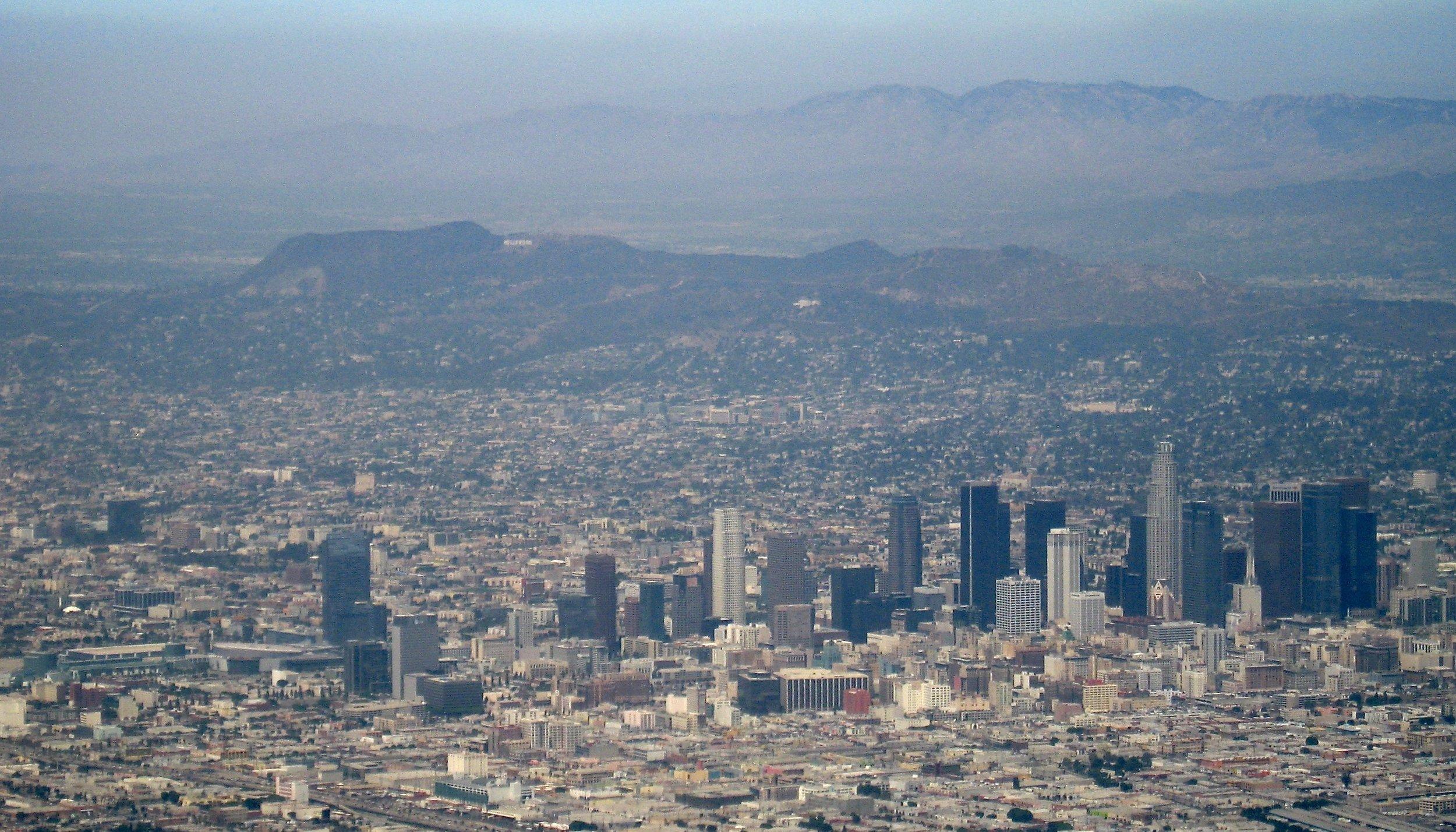 Overhead shot of LA from Matt's first flight.