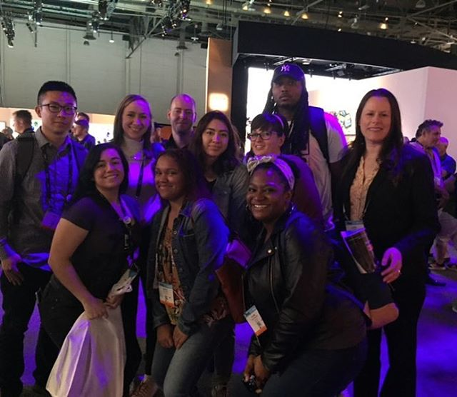 The PDAP recipients got a guided tour of the Sony booth thanks to PDAP committee member (and Sony Marketing Development Manager) Laura Pursley!