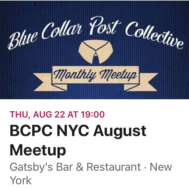 Looking forward to seeing all you cave dwellers! #postlife #meetup #filmnerds