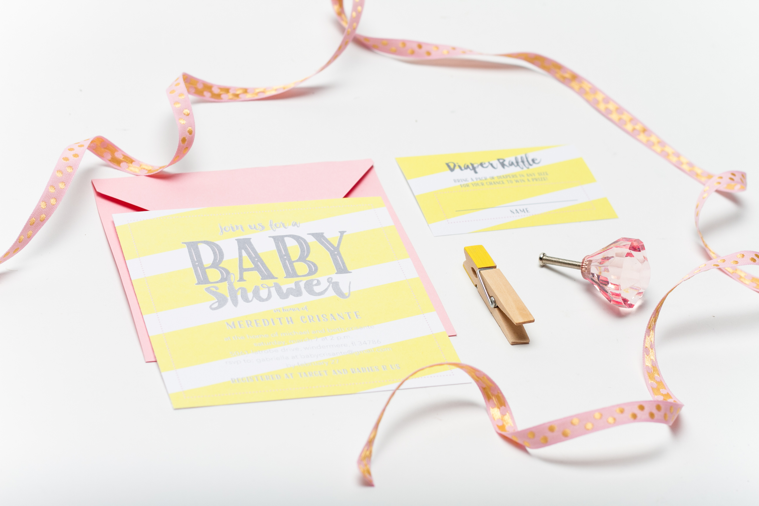 Baby Girl Shower Invitation