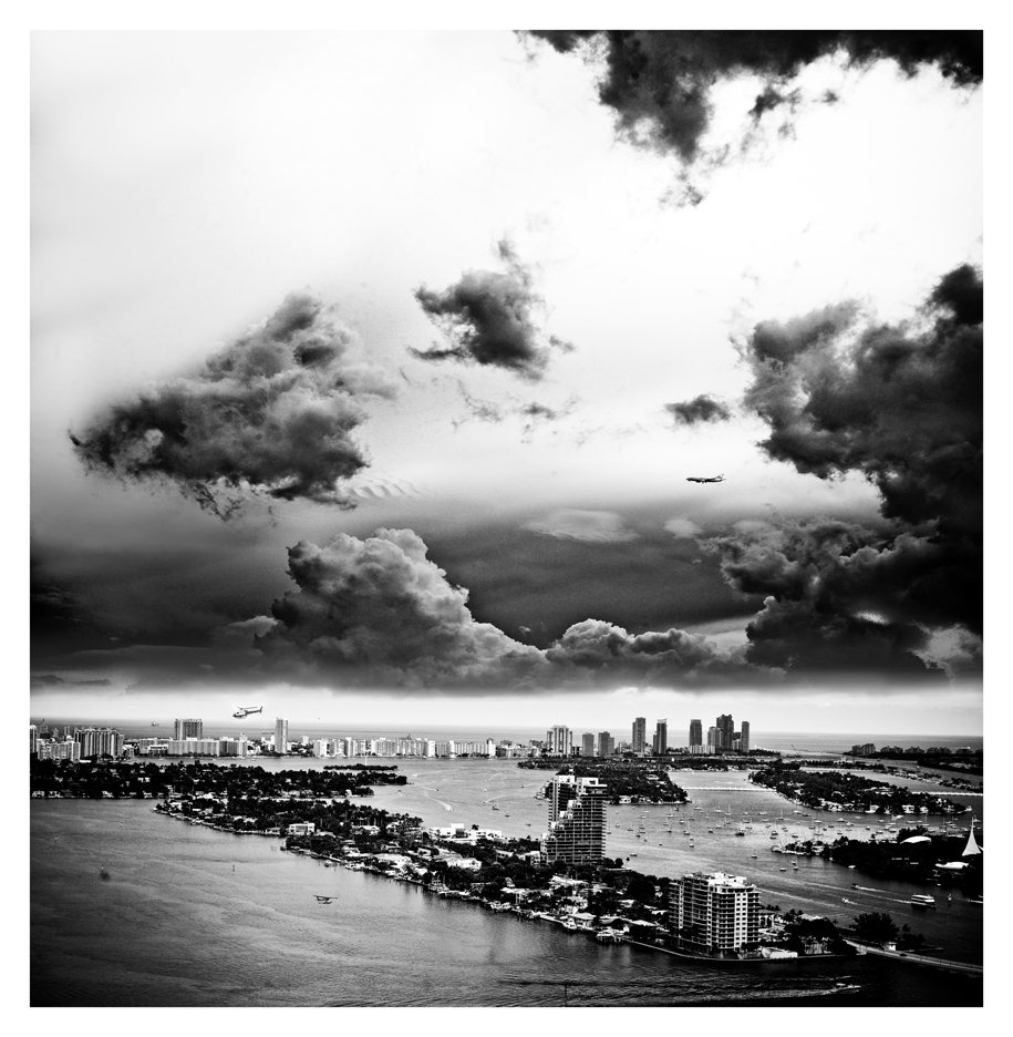 "MIAMI AIRPLANES 2014 :  LAURENT DE POSSON  ARCHIVAL PIGMENT PRINT  60"" X 65""   SERIES  2 OF 12"