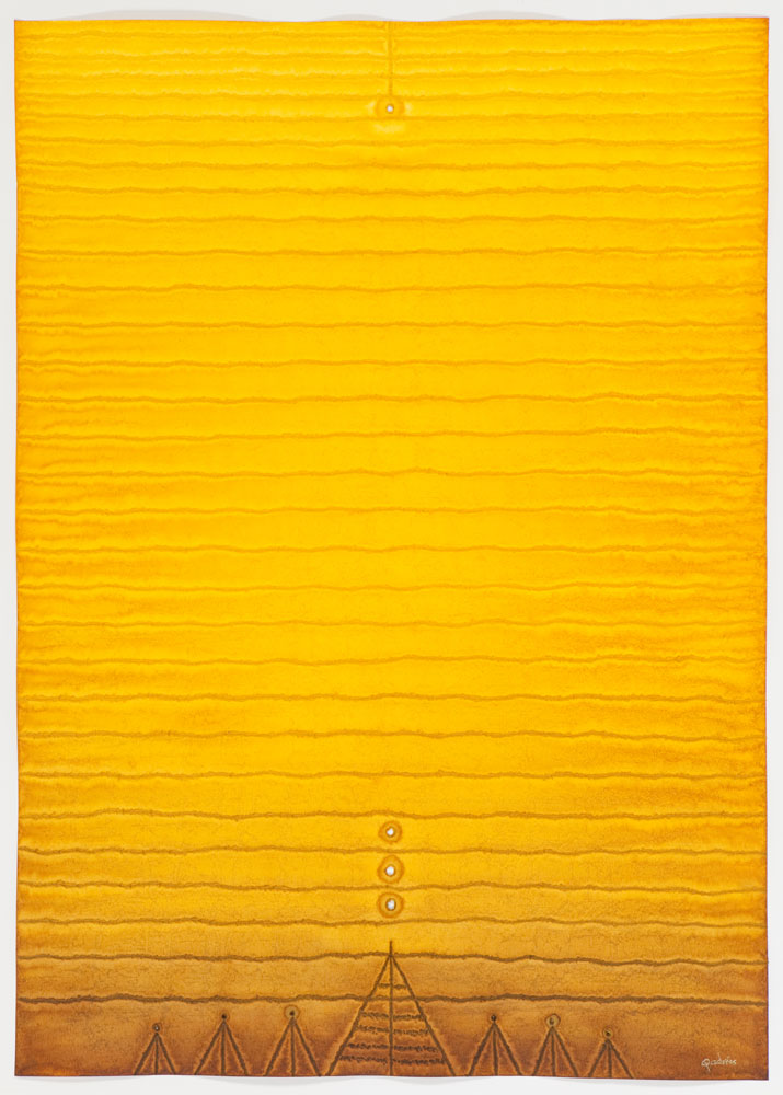 """Arti IV , 2008    Ink and dye on paper    55 x 39""""    (Inventory# SQ783[stg](08162))    Stock NY    $59,000"""