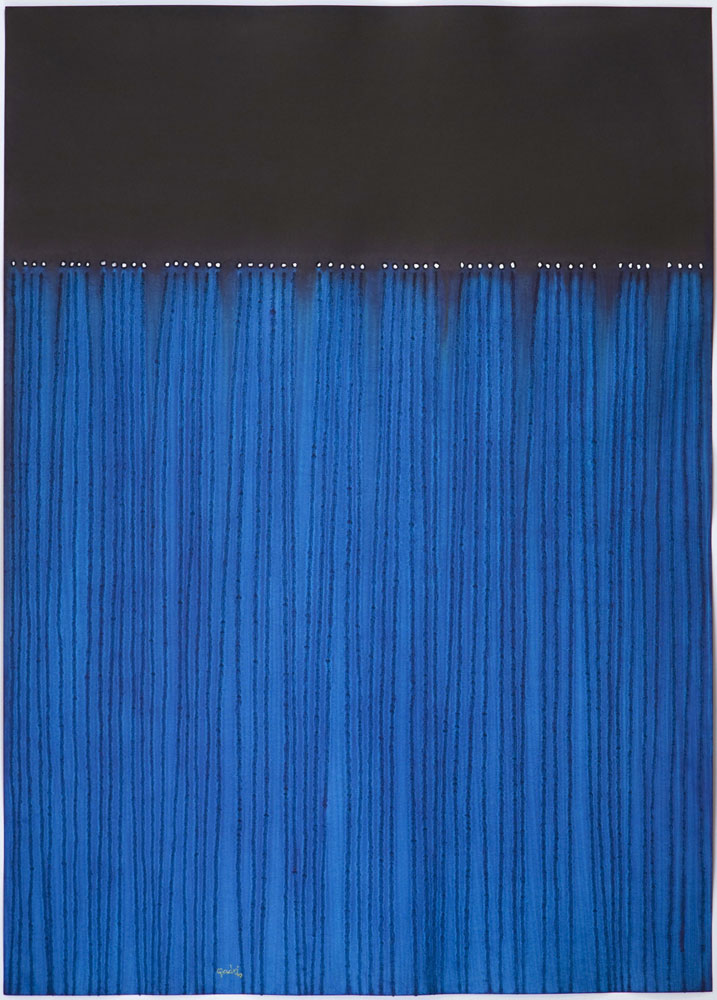 """Nitya , 2008    Ink and dye on paper    55 x 39""""    (Inventory# SQ708[HK](0862))    Stock NY    $59,000"""