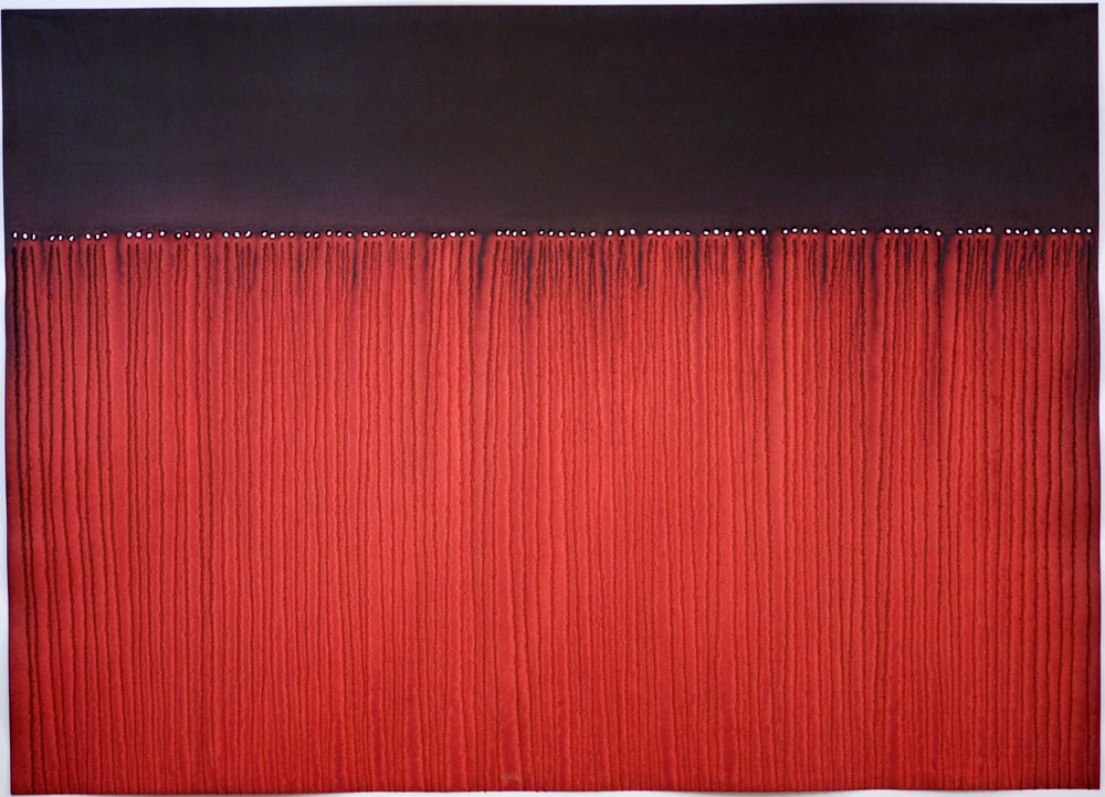"""Agni V , 2008    Ink and dye on paper    39 x 55""""    (Inventory# SQ705[HK](0857))    Stock NY    $59,000"""