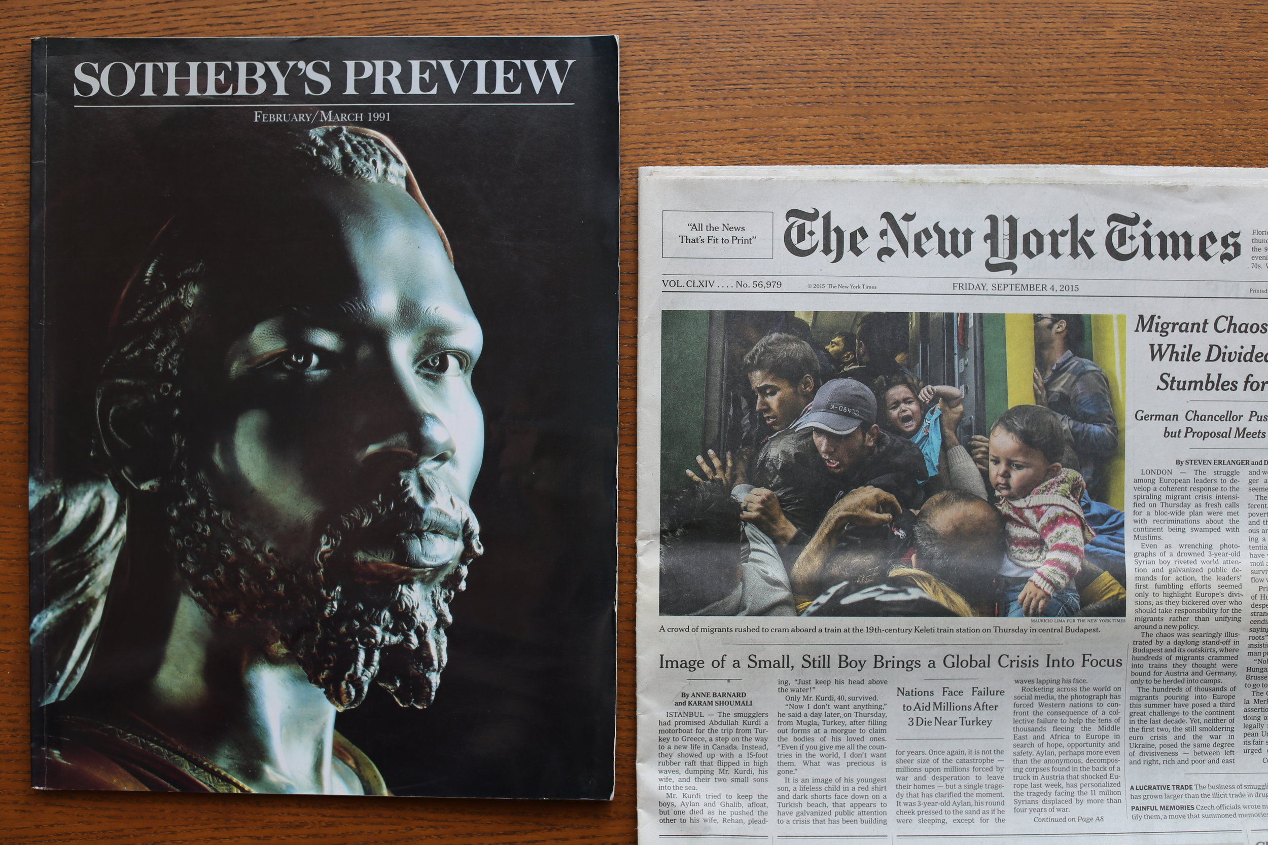 Front covers featuring works by Charles Cordier and Mauricio Lima by angela halliday.JPG
