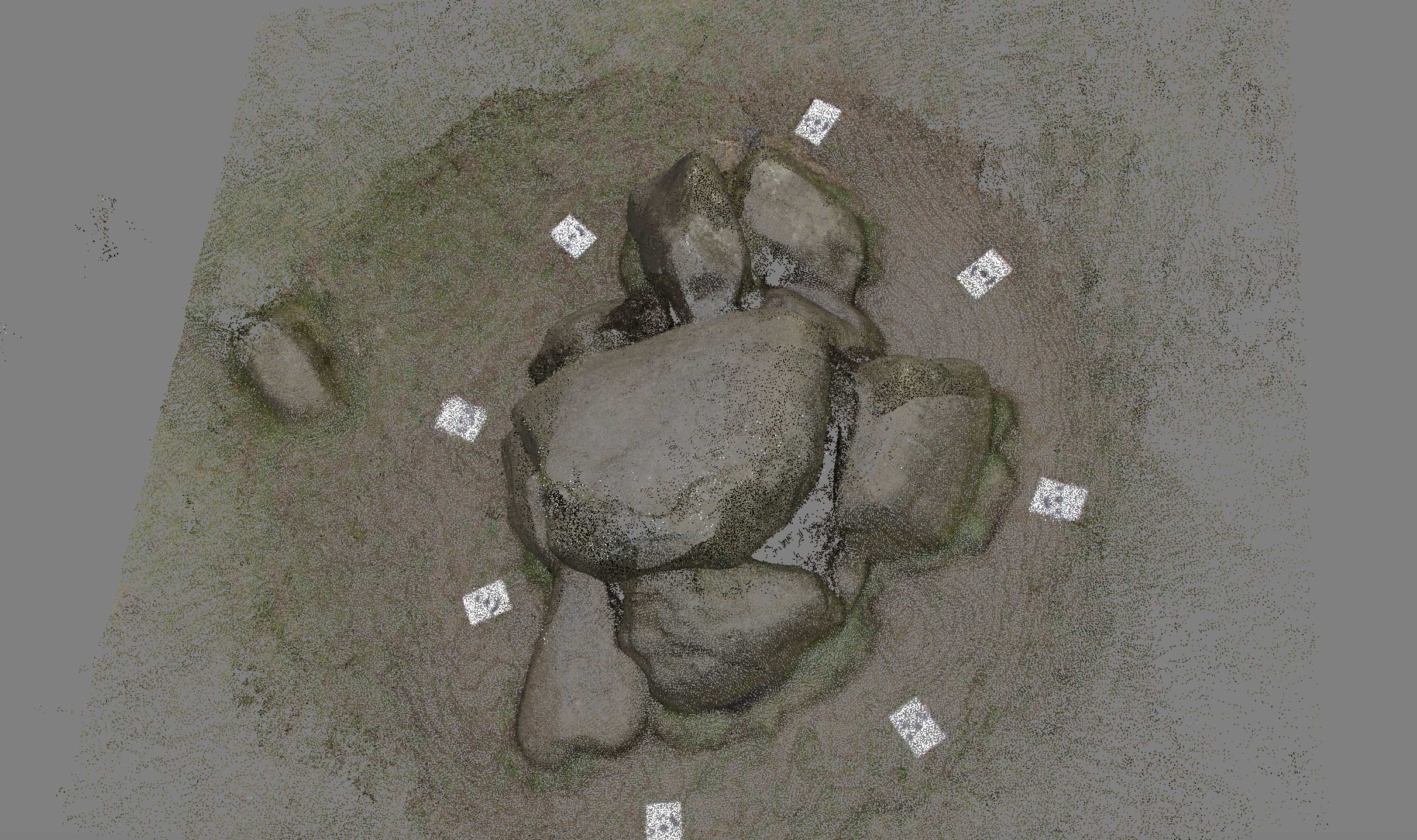 Point of view II , 3D model of neolithic henge 'The Giant's Ring' created by photogrammetric surveying