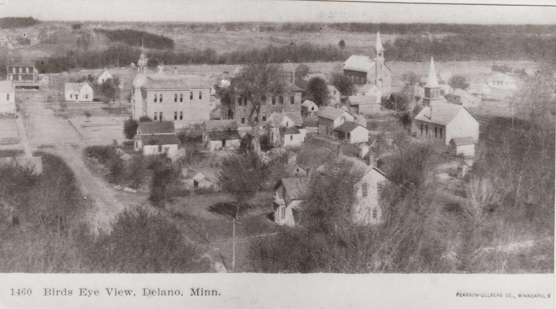 1. Birds-eye-view of Delano, MN,