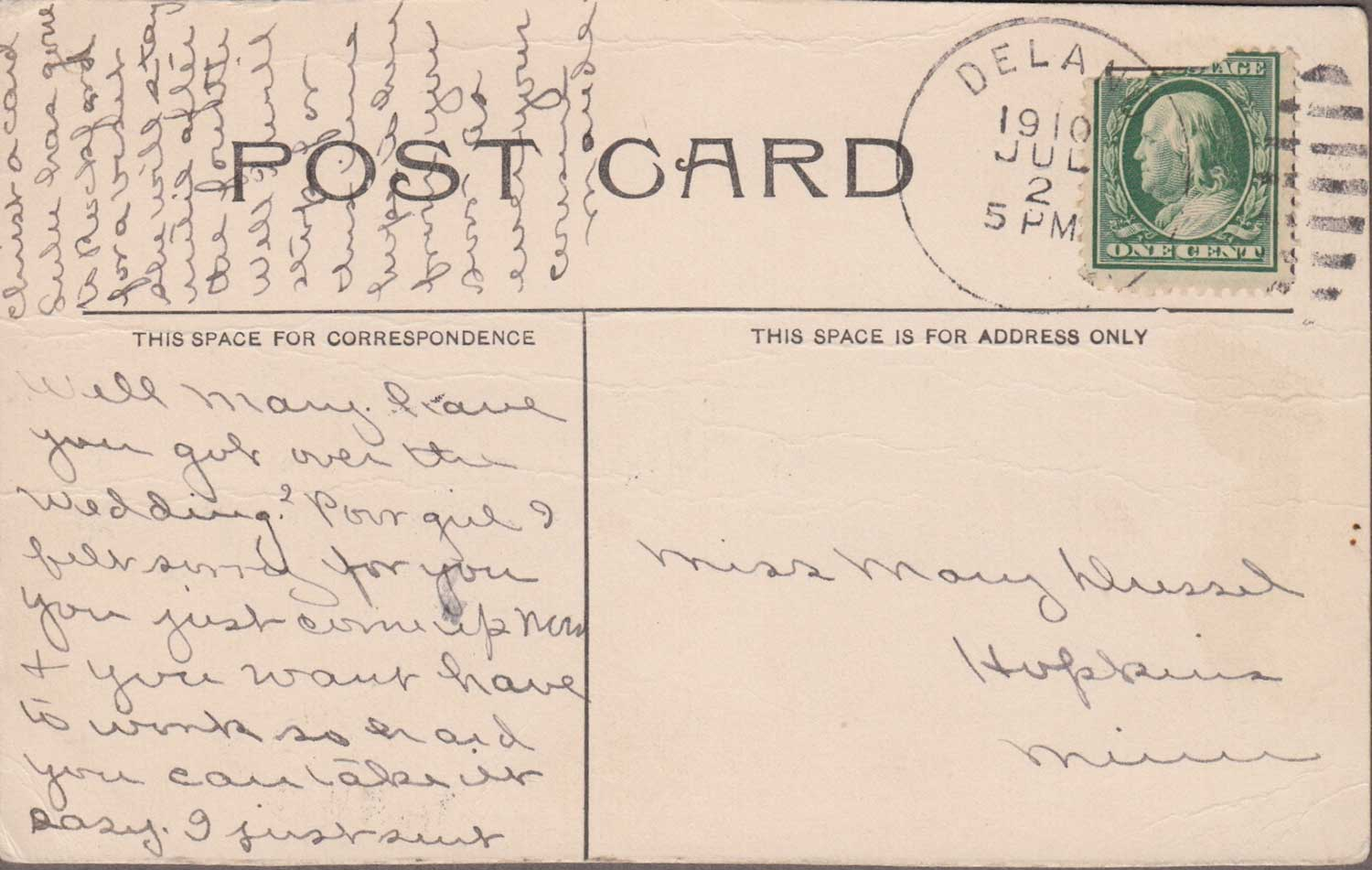 6. Crow River Postcard Back