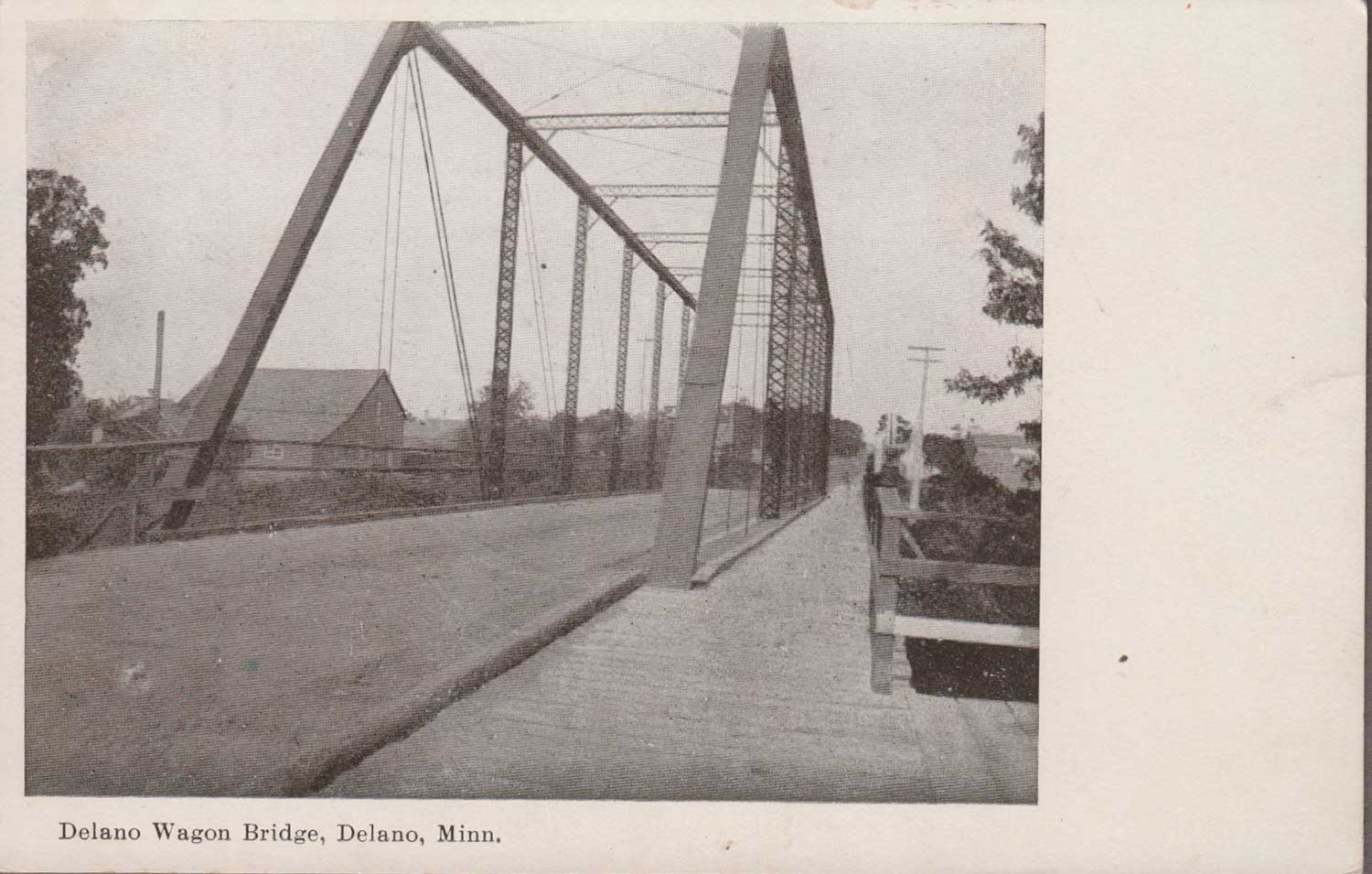 15. Delano Wagon Bridge Postcard
