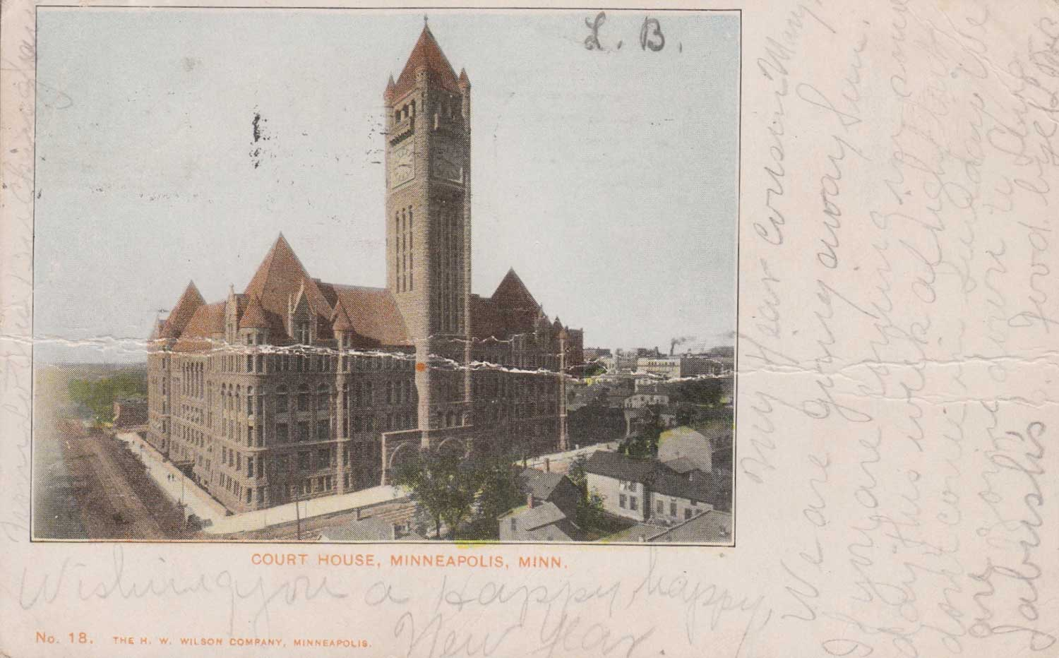 17. Minneapolis Courthouse Postcard