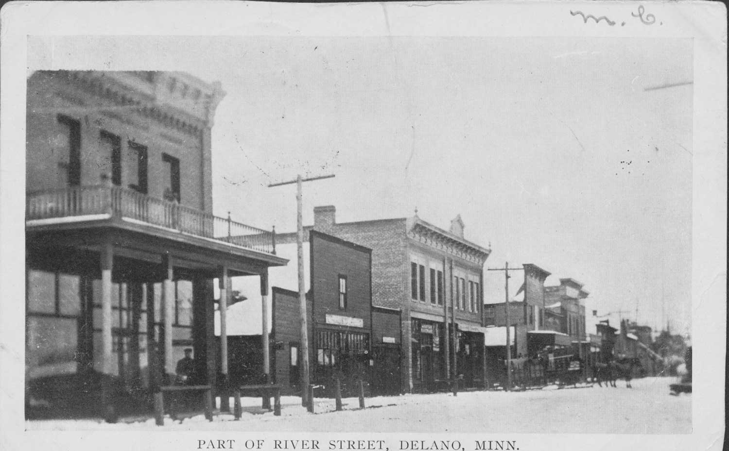 19. Part of River Street Postcard