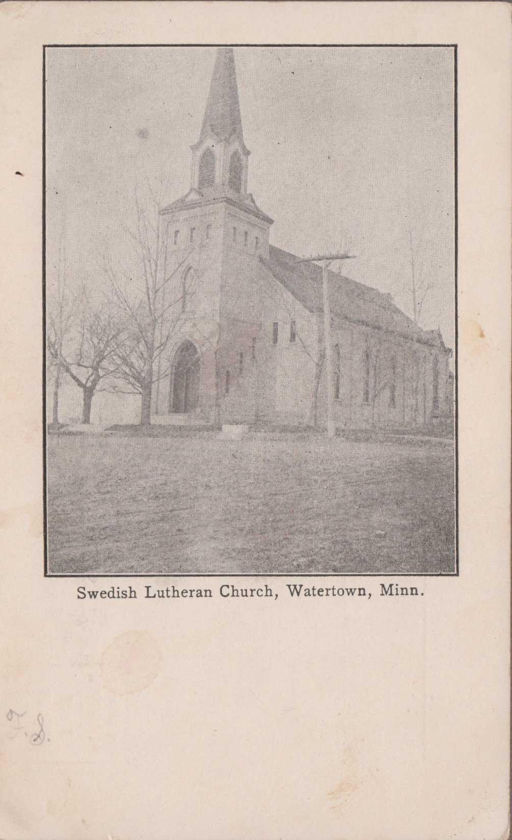 21. Swedish Lutheran Church Postcard