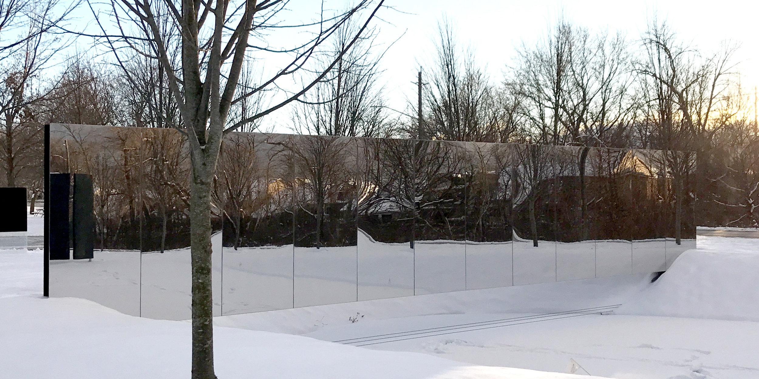 Dereck Revington Studio - Welland Canal Fallen Workers Memorial - Mirror Side Winter