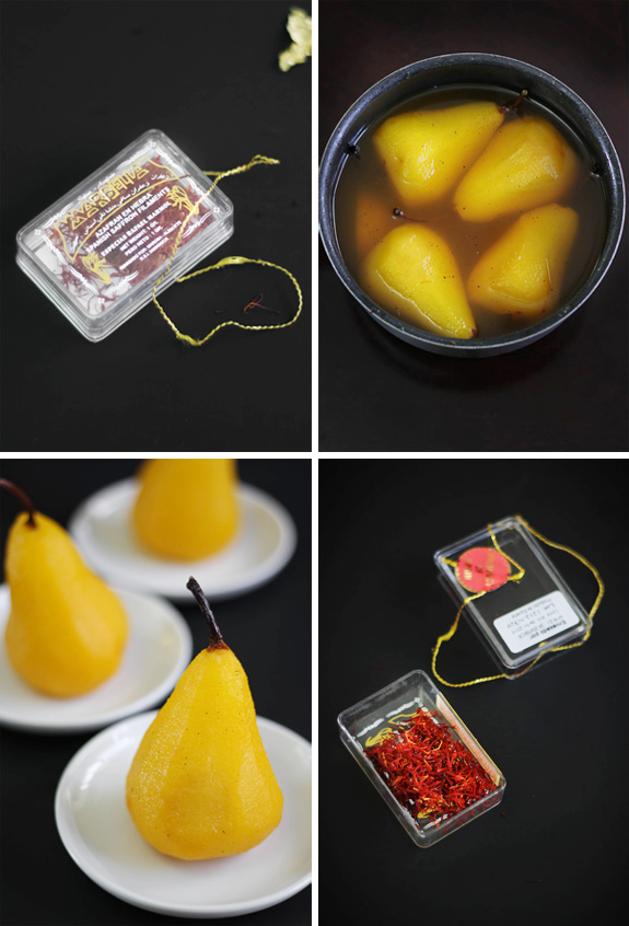 saffron-vanilla poached pears sprinklebakes.png