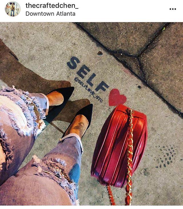 📸: @thecraftedchen_ Self❤️® is the best love!✨ . . #selfloveisthebestlove  #streetphotography  #lifeisbeautiful  #love  #midtown  #atlanta  #loveyourself  #lifestyle #selflove #lifestyleblogger  #selflove❤️ #self❤️ #streetart