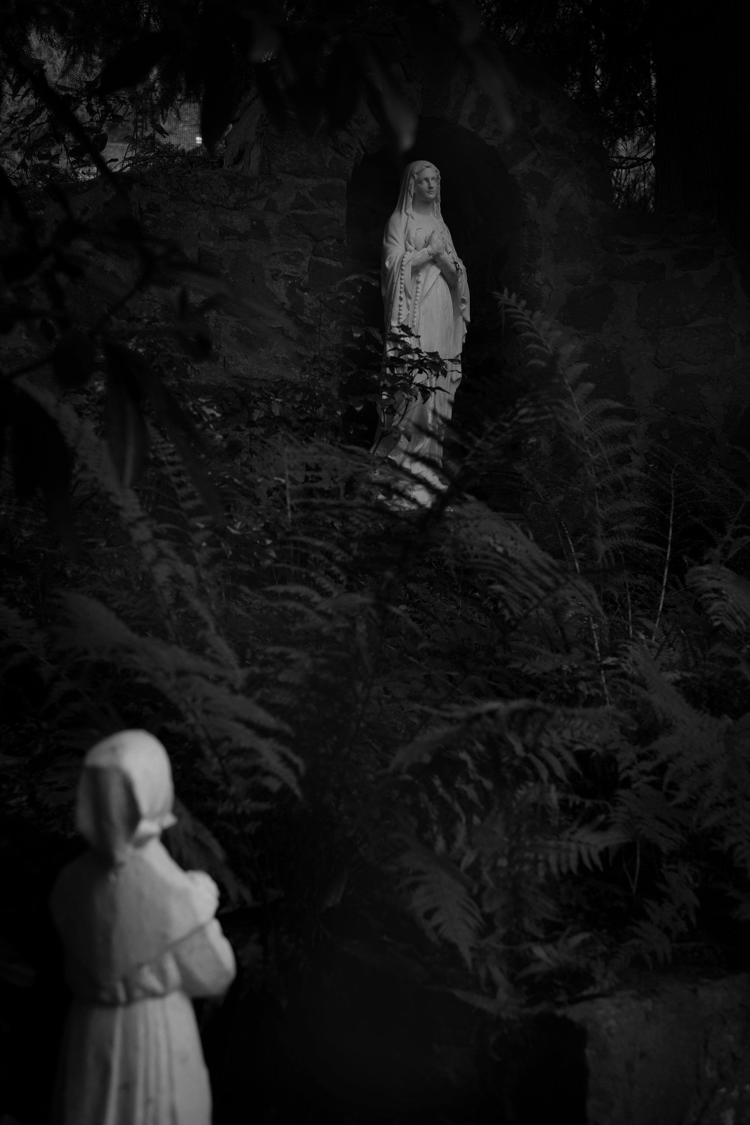 the virgin's grotto   St. Mary's Monastery, Perth, Scotland  November 2016  digital capture