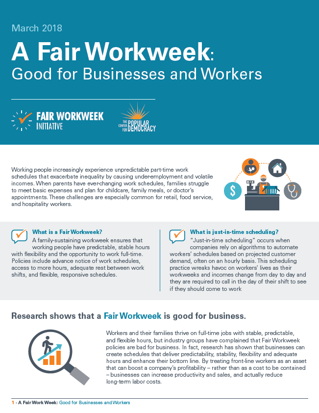 A Fair Workweek: Good for Businesses and Workers
