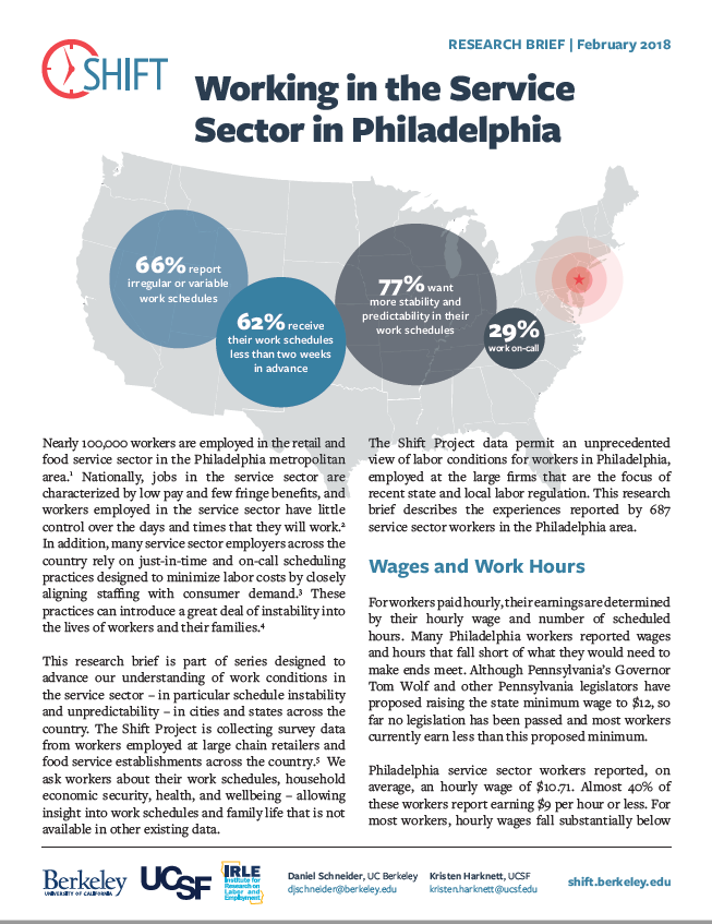Working in the Service Sector in Philadelphia