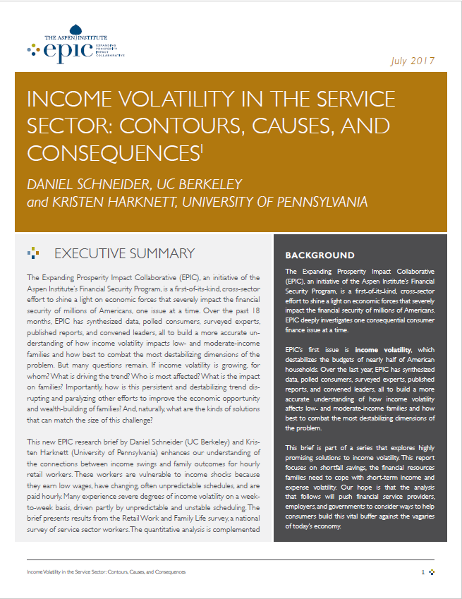 Income Volatility in the Service Sector: Contours, Causes, and Consequences