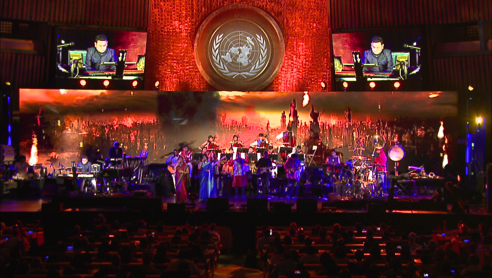 A.R. Rahman at the United Nations - Manhattan, NY - Aug '16