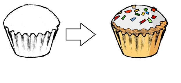 Baking with Lexxy:  The User is given a template of a baking good and gets to help Lexxy decorate cupcakes, cookies, cakes & more! The Userselects from variousaccessories to help create a culinary masterpiece. Ex. Different frosting, sprinkles, toppings, candles, etc.