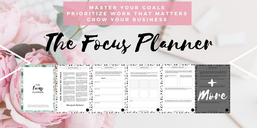 focus productivity planner for entrepeneurs