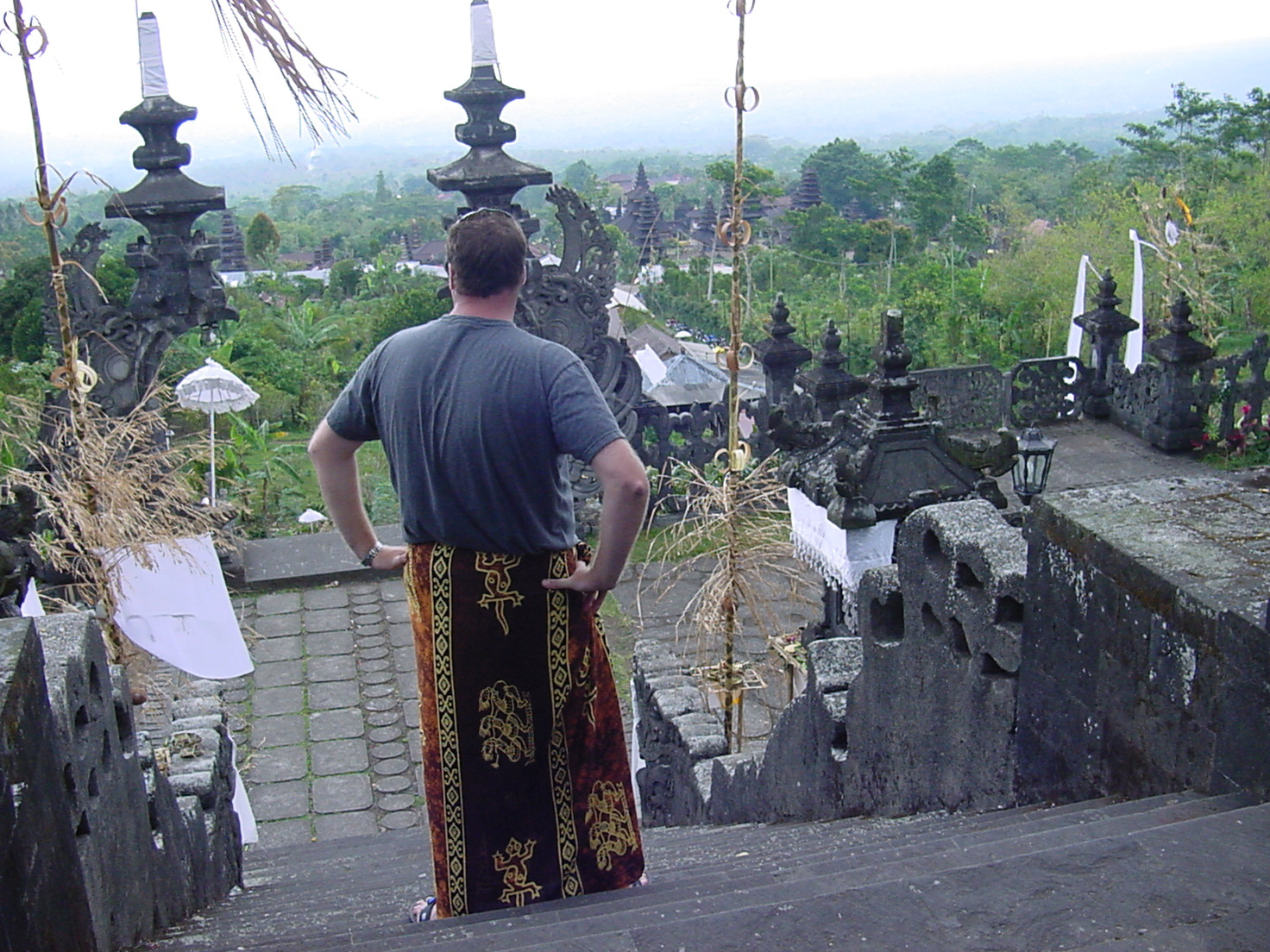 Our Founder, Josh at the Besakih Temple on Bali
