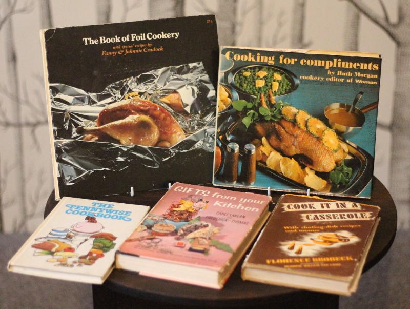 Whether it's retro cookbooks.....