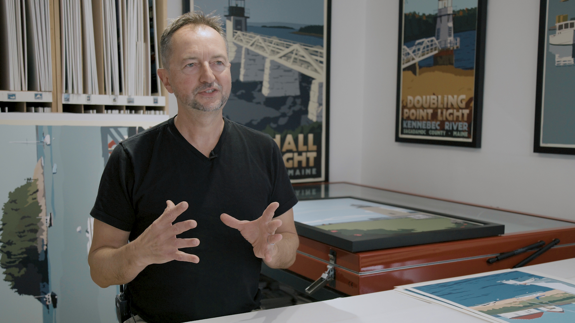 Interview with Artist Alan Claude - Alan Claude talks about his art and the life around lighthouses he sees today.