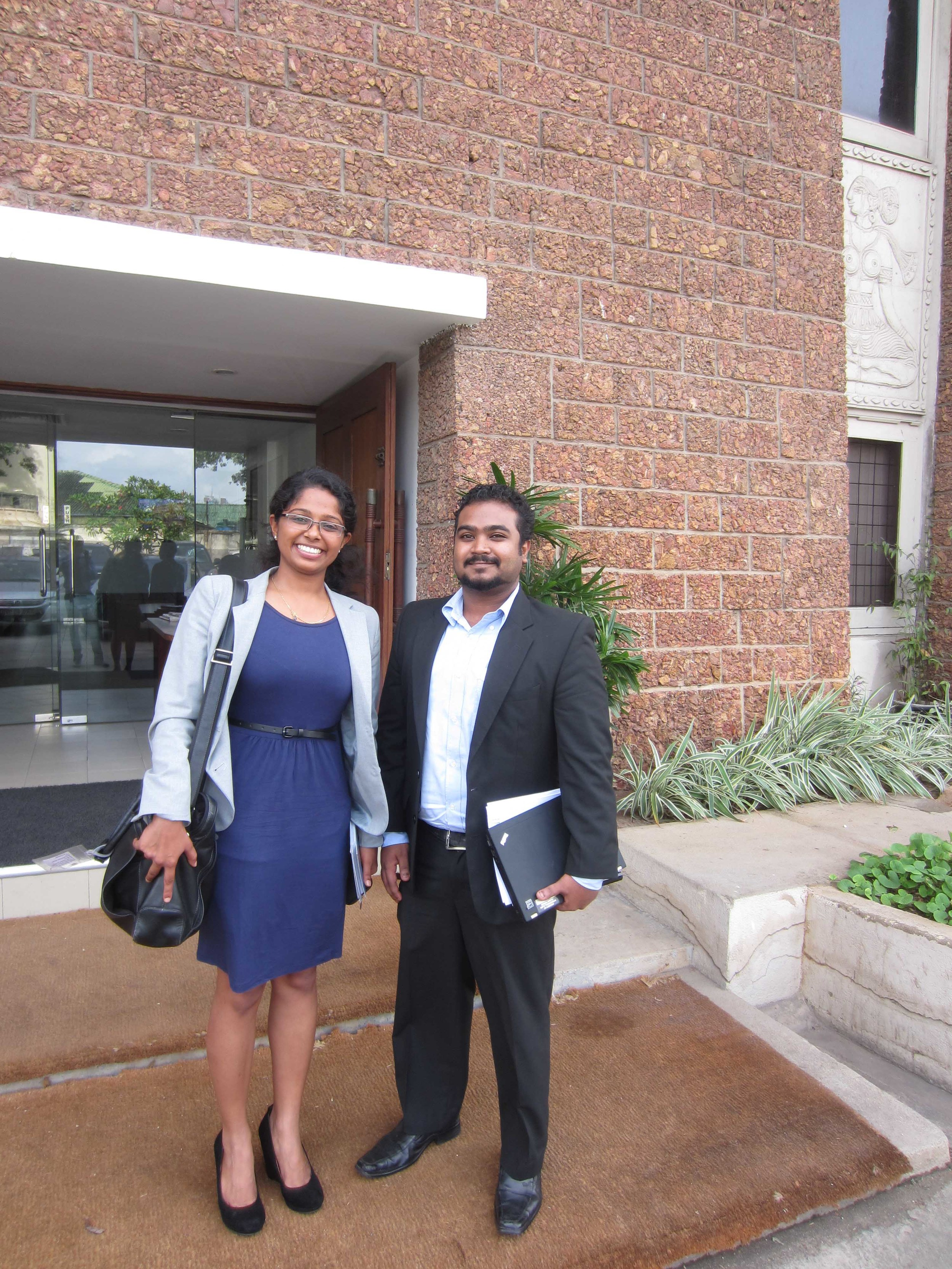 With Dhanusha, Educate Lanka's Country Co-ordinator after a successful presentation