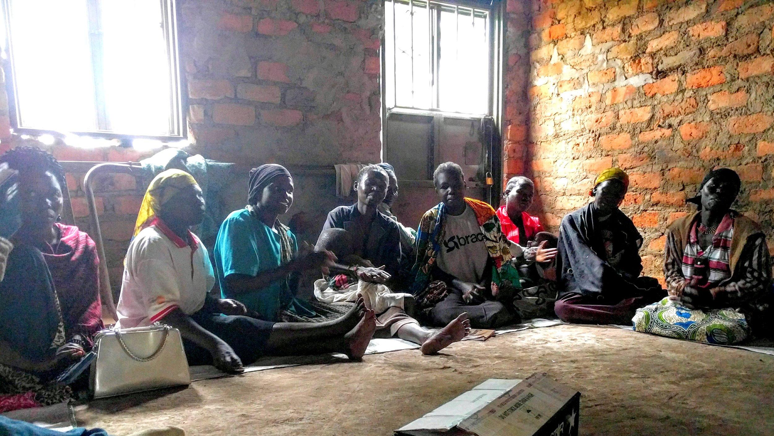 Group meeting of BRAC Uganda's microfinance clients