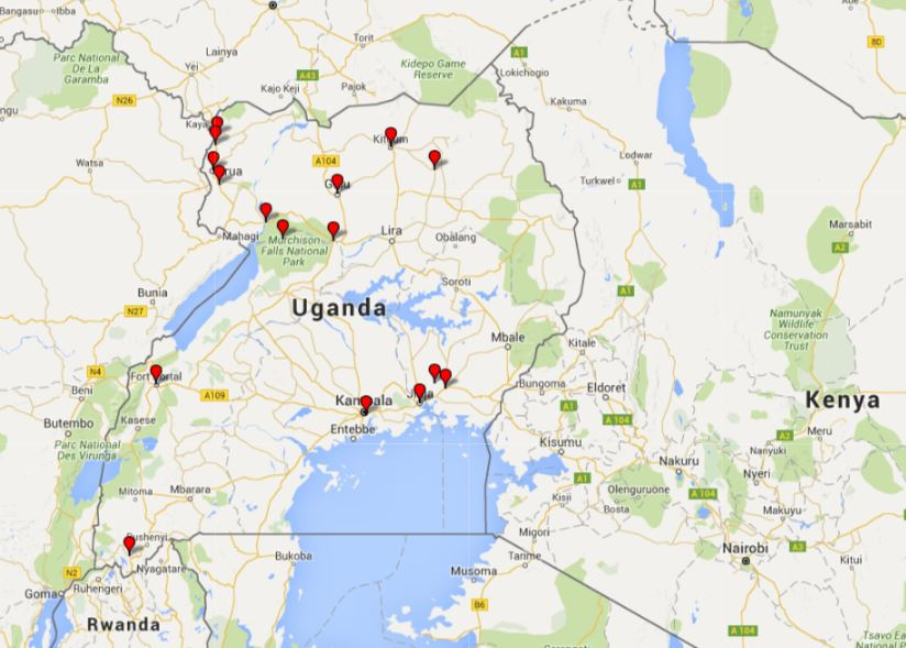 Places I've been to this Summer in Uganda