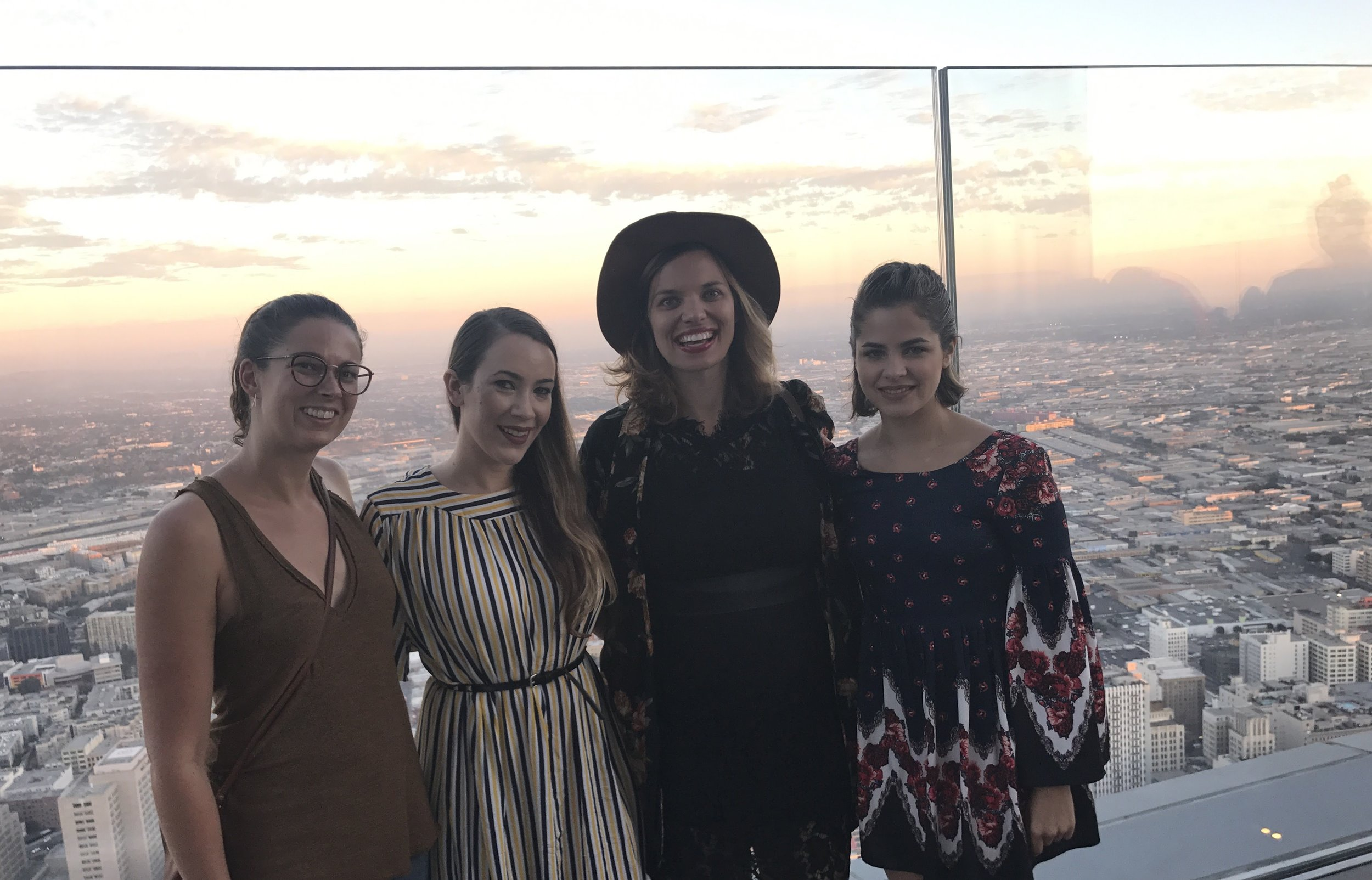 Here's a photo of most of our team at a recent event at the SkySpace in DTLA!