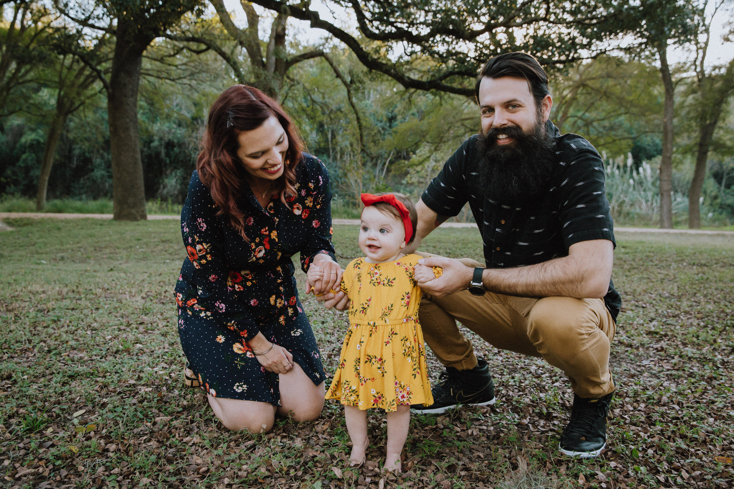 We took some time for family photos at our neighborhood park, just down the street from the house we bought in AUSTIN woohooo! Photo by FlowerMouth Photography.