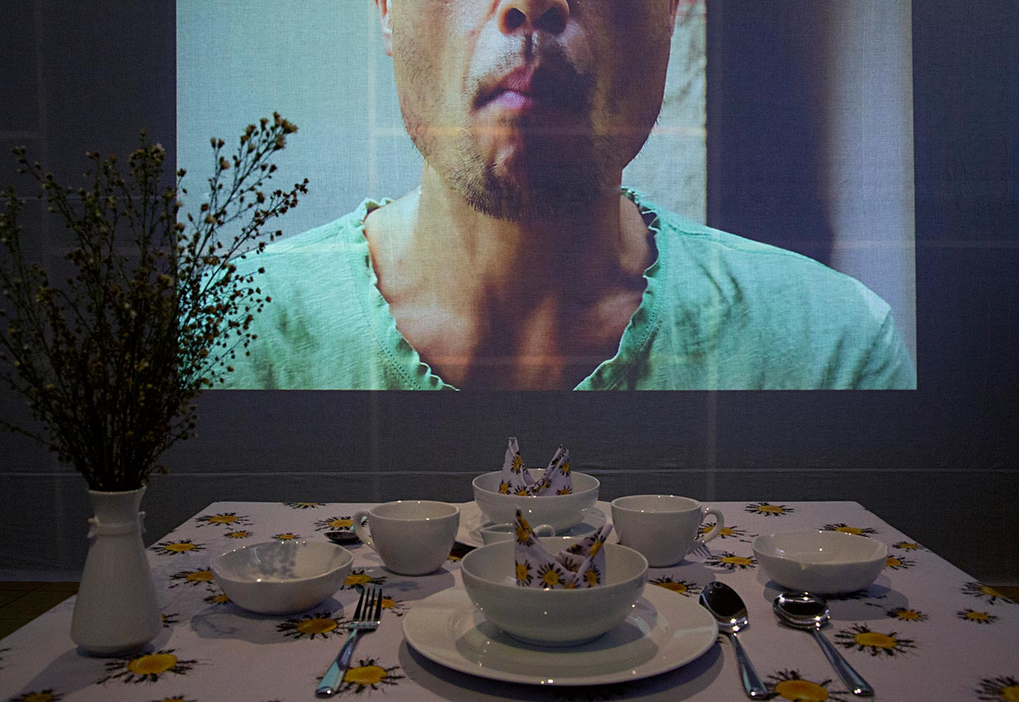 PARADE OF BUTS : A Square Room with 3 Projected Video and  NOTHING BUT A NOM NOM  Dining Room Installation, Cemeti Art House, Yogyakarta - Indonesia