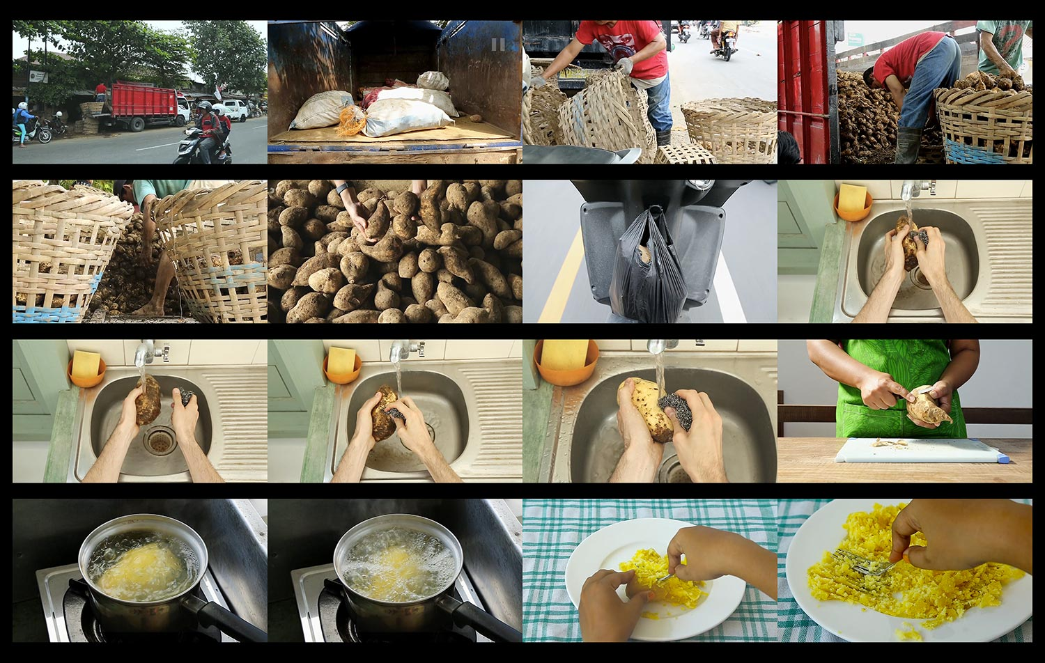 BUT A (SWEET) POTATO CAN'T FIGHT BACK:  Video ScreenShot  (click image for larger view)