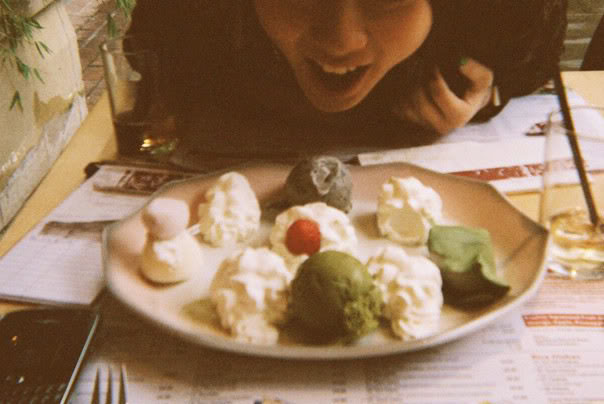 (I can't remember the name, but this was our favourite dessert in Teri-Aki restaurant *pinchthestickymochi*