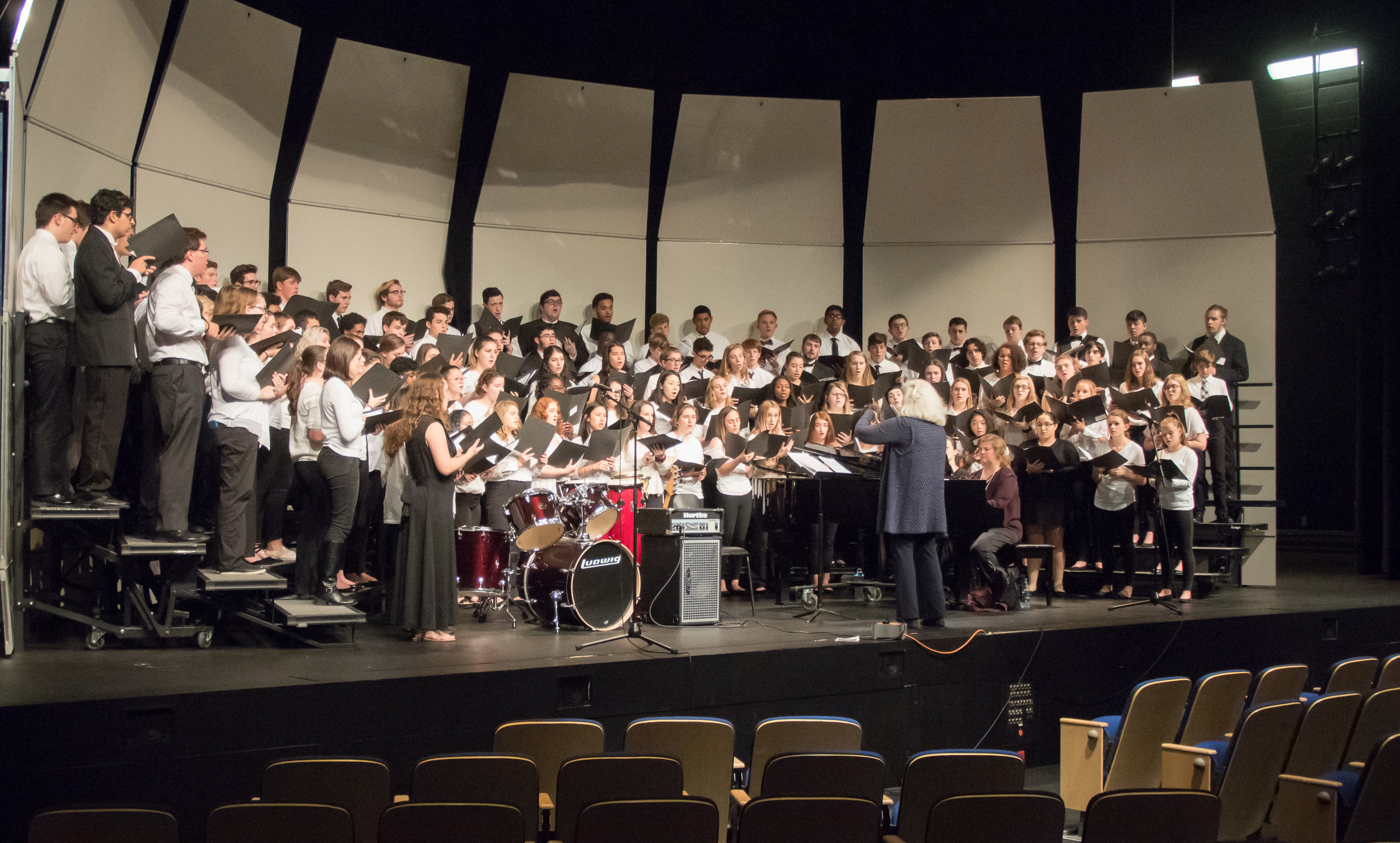 Christine Bass and 2018 High School Honor Choir