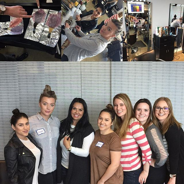Great class with Beyond Bliss Beauty Lounge in San Jose CA !! Amazing people and we had some fun with Pravana Color !!