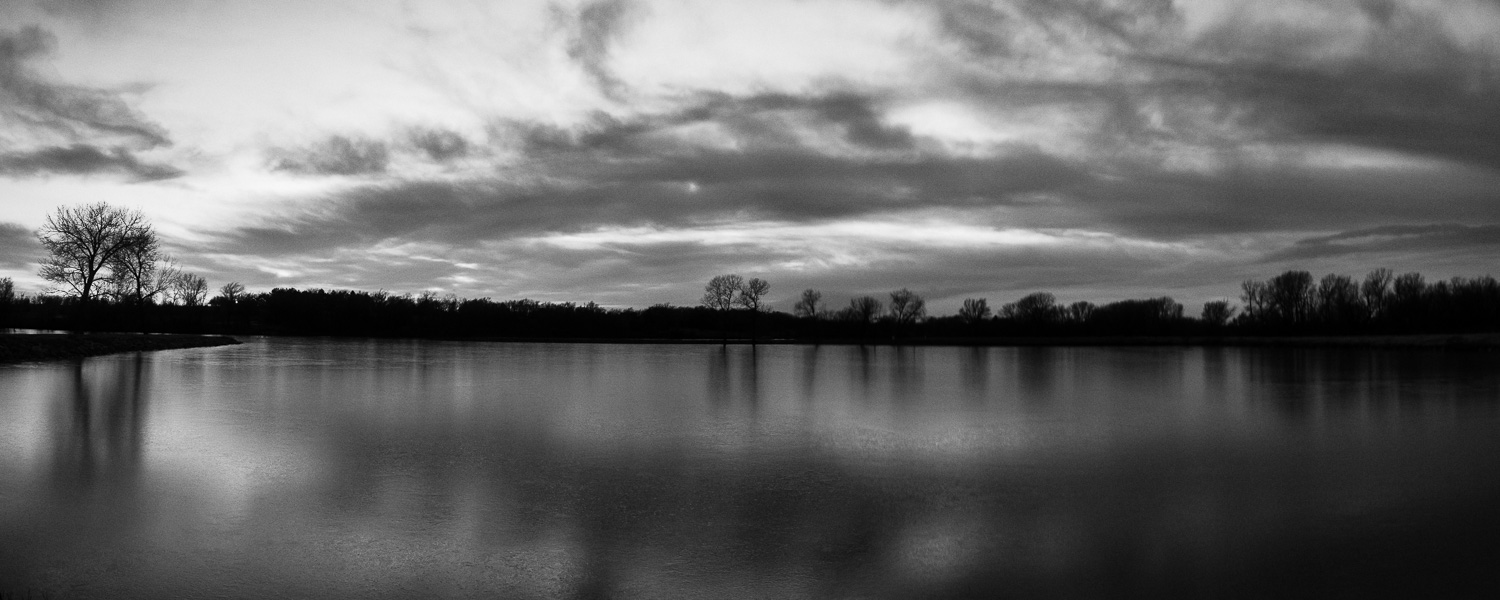 Black & White Panorama at Harvey County West Park