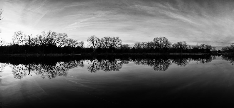 Black & White Panorama Reflection