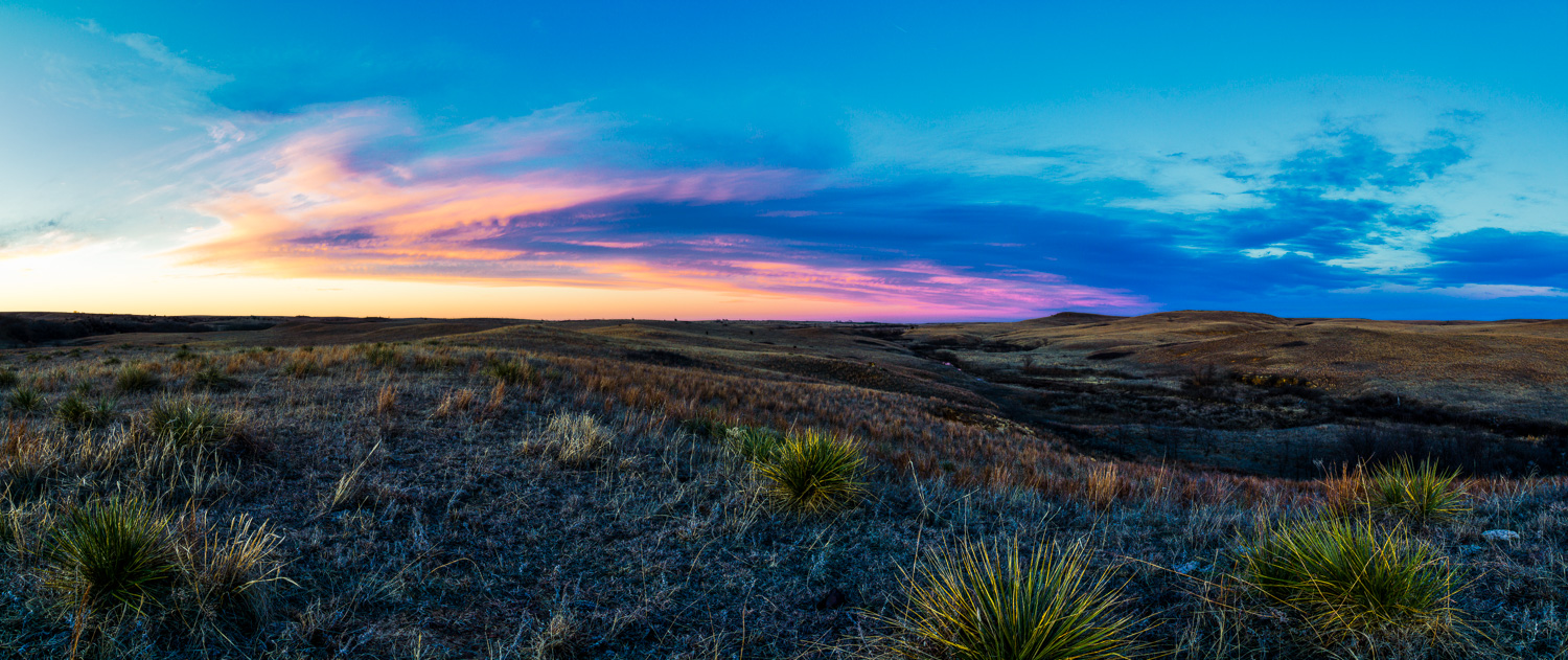 Wild Sunset Colors in the Smoky Hills